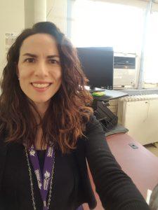 Julie Nariman - front of her spotless desk
