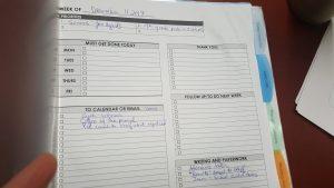 Julie Nariman - the weekly worksheet